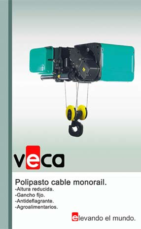 Polipasto cable monorail.